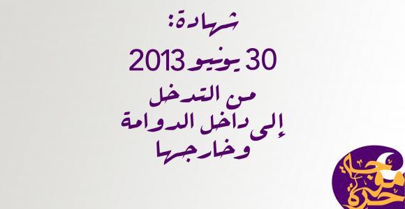 30 يونيو 2013... من التدخل إلى داخل الدوامة وخارجها